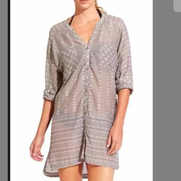 052ff4f879 Athleta Dresses & Skirts - Athleta ikat kaftan beach cover up shirt dress